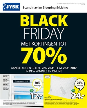 Jysk folder van 20/11/2017 tot 26/11/2017 - BLACK FRIDAY