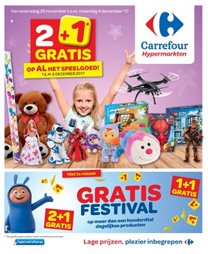 Carrefour folder van 29/11/2017 tot 04/12/2017 - weekaanbiedingen