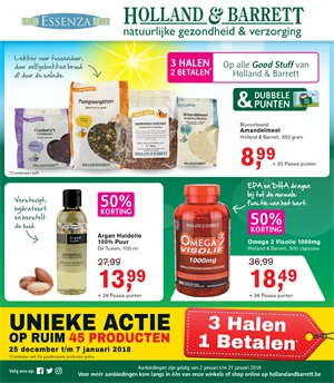 Holland & Barrett folder van 02/01/2018 tot 21/01/2018 - Promo van de week