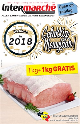 Intermarché folder van 02/01/2018 tot 07/01/2018 - Promo van de week