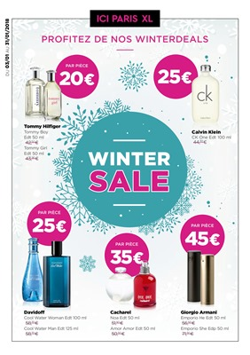 Folder ICI PARIS XL du 03/01/2018 au 31/01/2018 - Winterdeals