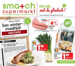 Smatch folder van 10/01/2018 tot 16/01/2018 - Promo van de week