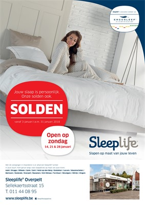 Sleeplife folder van 03/01/2018 tot 31/01/2018 - Sleeplife Overpelt solden januari