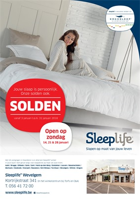 Sleeplife folder van 03/01/2018 tot 31/01/2018 - Sleeplife Wevelgem solden januari