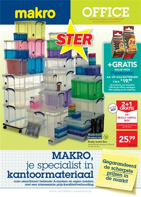 Makro folder van 22/12/2017 tot 30/01/2018 - Office promo januari