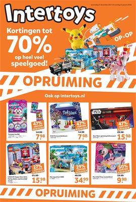 Intertoys folder van 27/12/2017 tot 21/01/2018 - Opruiming januari