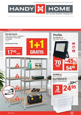 HandyHome folder van 11/01/2018 tot 28/01/2018 - DIY promo januari week 3 & 4