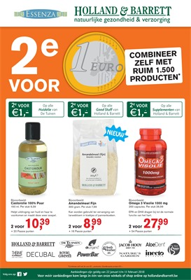 Holland & Barrett folder van 22/01/2018 tot 11/02/2018 - Promo van de week