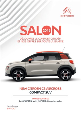 Folder Citroën du 08/01/2018 au 31/01/2018 - Salon 2018