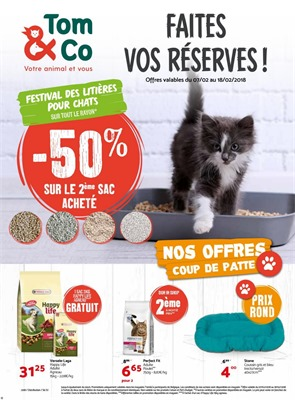 Folder Tom & Co du 07/02/2018 au 18/02/2018 - Promo van de week