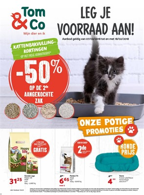Tom & Co folder van 07/02/2018 tot 18/02/2018 - Promo van de week