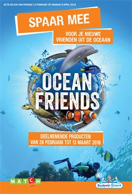 Match folder van 28/02/2018 tot 13/03/2018 - Album ocean friends geldig van 28/02 tot 13/03