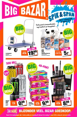 Big Bazar folder van 26/02/2018 tot 11/03/2018 - Promo week 9 en 10