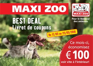 Folder Maxi Zoo du 12/03/2018 au 25/03/2018 - coupons de réductions mars