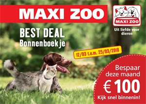 Maxi Zoo folder van 12/03/2018 tot 25/03/2018 - promoties van de week