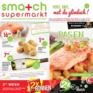 Smatch folder van 21/03/2018 tot 03/04/2018 - promoties van de week