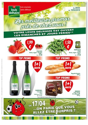 Folder Louis Delhaize du 28/03/2018 au 10/04/2018 - promotions de la semaine