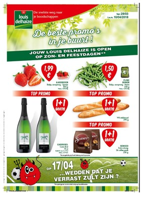 Louis Delhaize folder van 28/03/2018 tot 10/04/2018 - promoties van de week