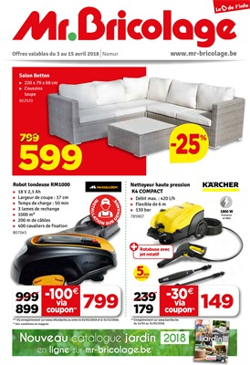 Folder Mr Bricolage du 03/04/2018 au 15/04/2018 - promotions de la semaine