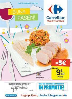 Carrefour folder van 21/03/2018 tot 02/04/2018 - promoties van de week