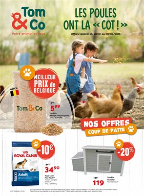 Folder Tom & Co du 28/03/2018 au 08/04/2018 - promotions de la semaine