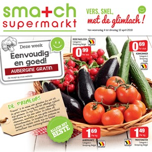 Smatch folder van 04/04/2018 tot 10/04/2018 - promoties van de week
