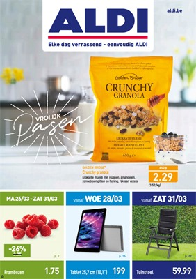 Aldi folder van 26/03/2018 tot 31/03/2018 - promoties van de week