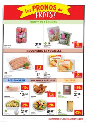 Folder Carrefour Market du 21/03/2018 au 27/03/2018 - promotions de la semaine