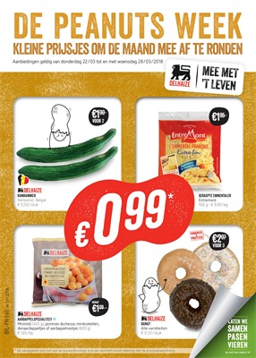 Delhaize folder van 21/03/2018 tot 28/03/2018 - promoties van de week