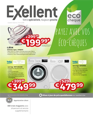 Folder Exellent du 01/04/2018 au 30/04/2018 - promotions de la semaine