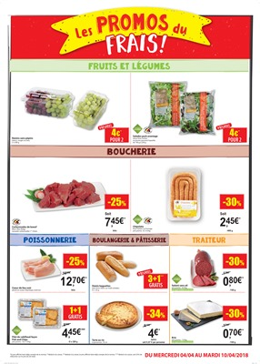 Folder Carrefour Market du 04/04/2018 au 10/04/2018 - promotions de la semaine
