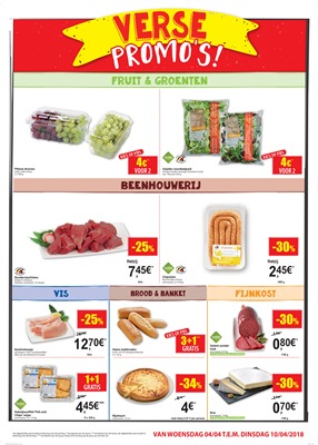 Carrefour Market folder van 04/04/2018 tot 10/04/2018 - promoties van de week