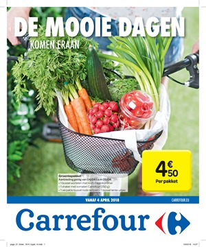 Carrefour folder van 04/04/2018 tot 16/04/2018 - promoties van de week