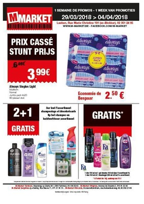 M-Market folder van 29/03/2018 tot 04/04/2018 - promoties van de week