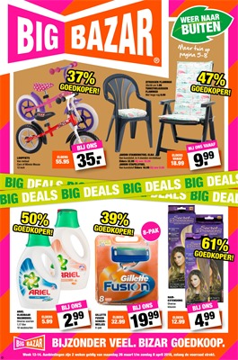 Big Bazar folder van 26/03/2018 tot 08/04/2018 - promoties van de week