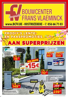 Bouwcenter Frans Vlaeminck folder van 27/03/2018 tot 15/04/2018 - promoties van de week