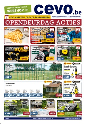 Cevo folder van 29/03/2018 tot 11/04/2018 - promoties van de week