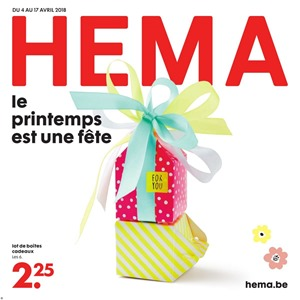Folder Hema du 04/04/2018 au 17/04/2018 - promotions de la semaine