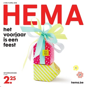 Hema folder van 04/04/2018 tot 17/04/2018 - promoties van de week