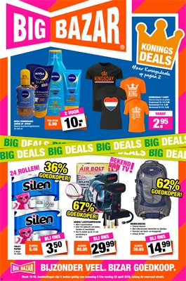 Big Bazar folder van 09/04/2018 tot 22/04/2018 - promoties van de week