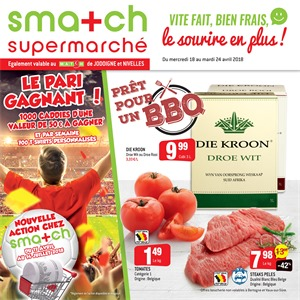 Folder Smatch du 18/04/2018 au 24/04/2018 - promotions de la semaine