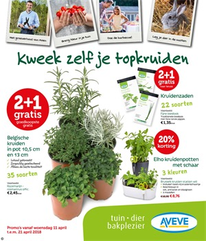 Aveve folder van 11/04/2018 tot 21/04/2018 - promoties van de week
