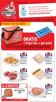 Renmans folder van 27/04/2018 tot 03/05/2018 - promoties van de week
