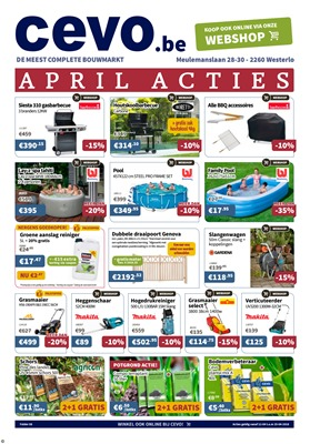 Cevo folder van 12/04/2018 tot 25/04/2018 - promoties van de week