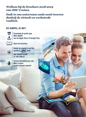 MSC cruises folder van 01/03/2018 tot 30/04/2019 - promoties tot eind april 2019