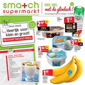 Smatch folder van 25/04/2018 tot 01/05/2018 - promoties van de week