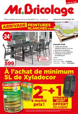 Folder Mr Bricolage du 24/04/2018 au 06/05/2018 - promotions de la semaine