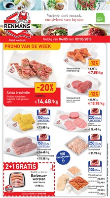 Renmans folder van 04/05/2018 tot 09/05/2018 - promoties van de week