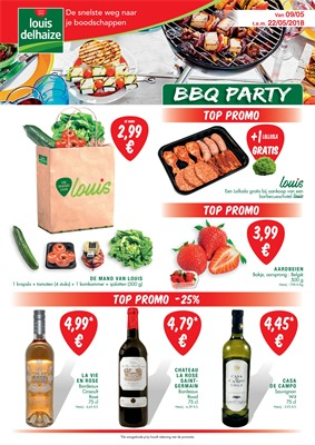 Louis Delhaize folder van 09/05/2018 tot 22/05/2018 - promoties van de week
