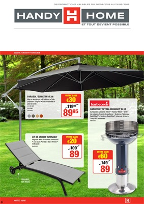 Folder HandyHome du 26/04/2018 au 15/05/2018 - promotions de la semaine